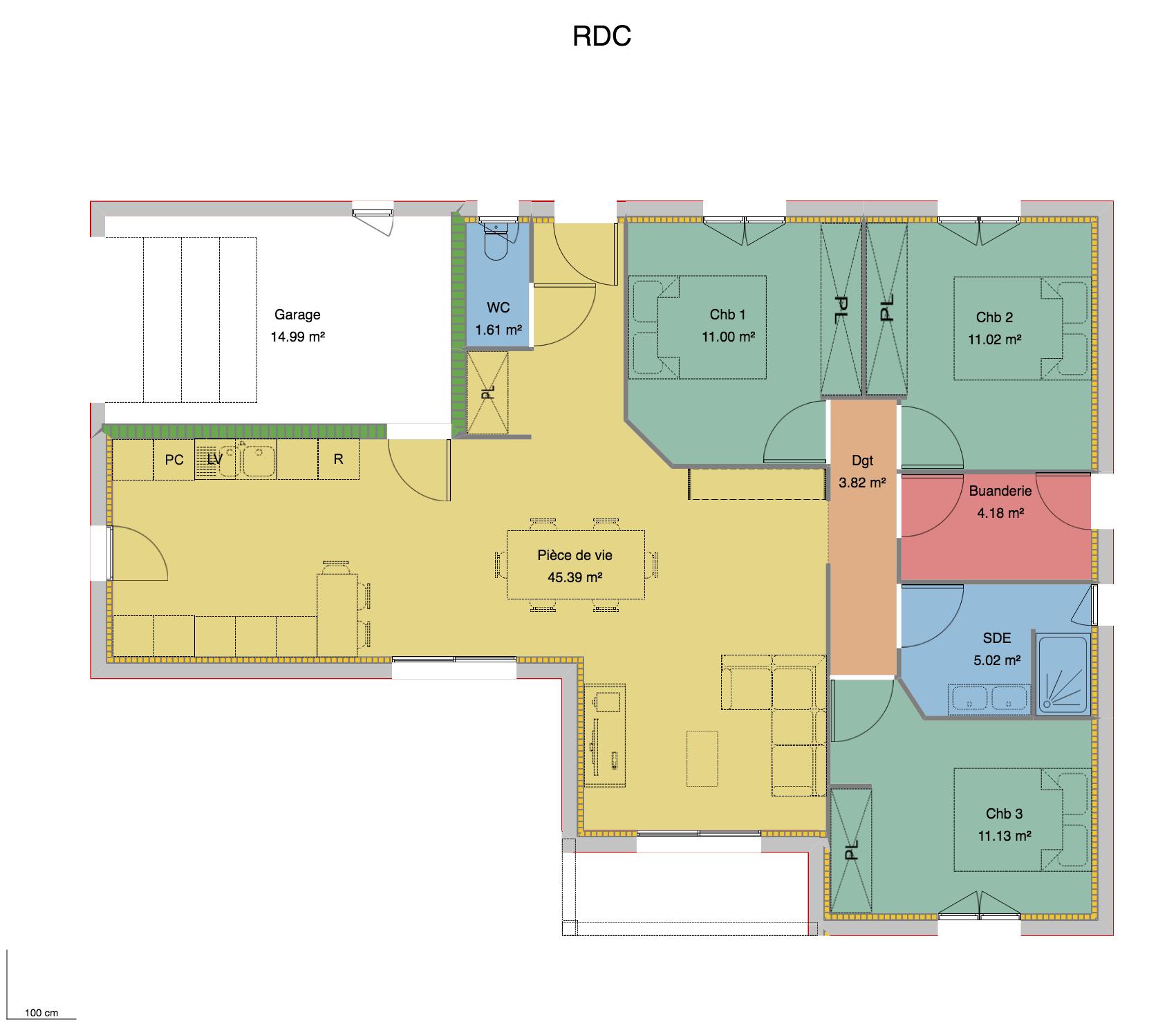 plan maison L Moulins