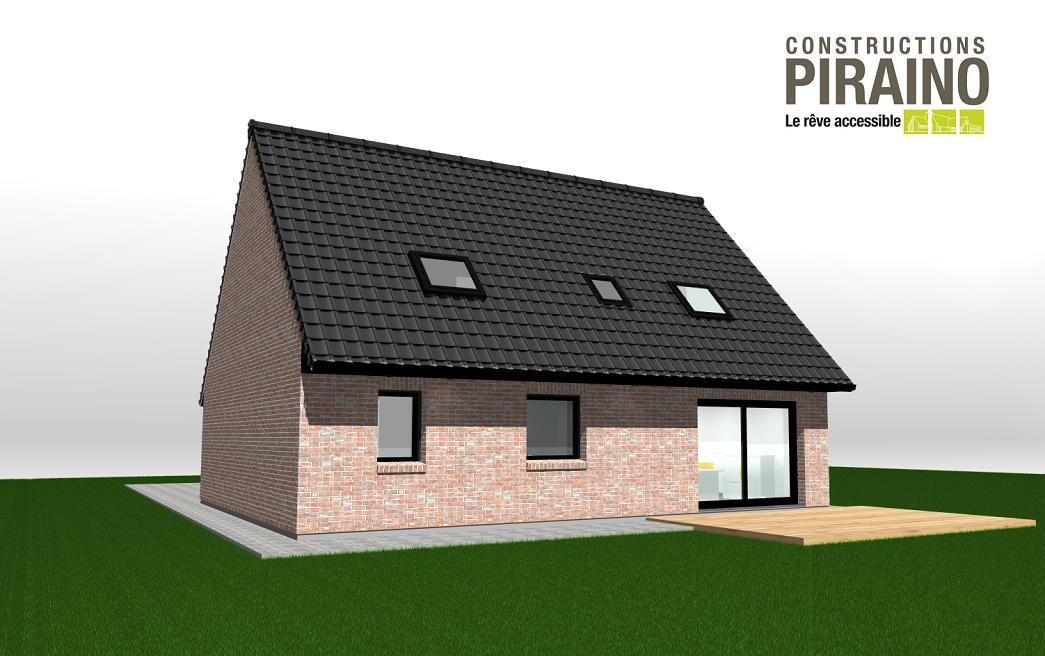 Terrain et maison à construire Coutiches 121m²