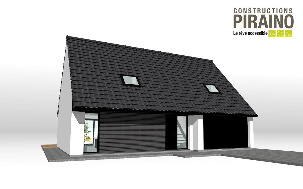 Terrain et maison à construire Moncheaux 129m²