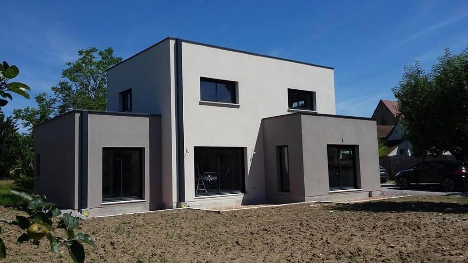D couvrez notre r alisation maison toit plat les demeures r gionales for Realisation toit plat