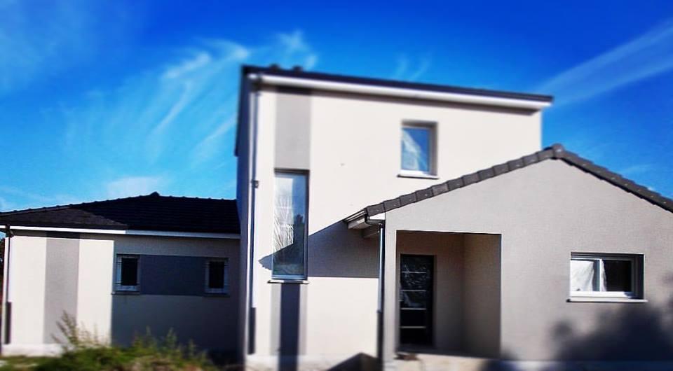 maison contemporaine avec étage