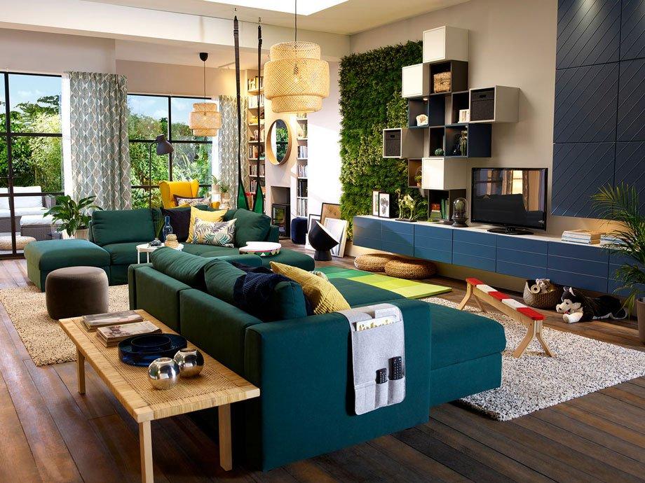 Mobilier coloré pour murs sombres - IKEA