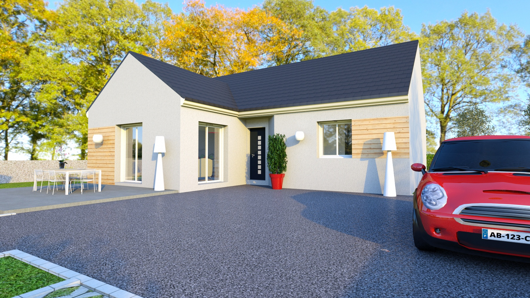 Photo maison Terrain de 914 m² + maison