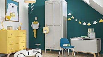 Une chambre d'enfant ludique et intemporelle
