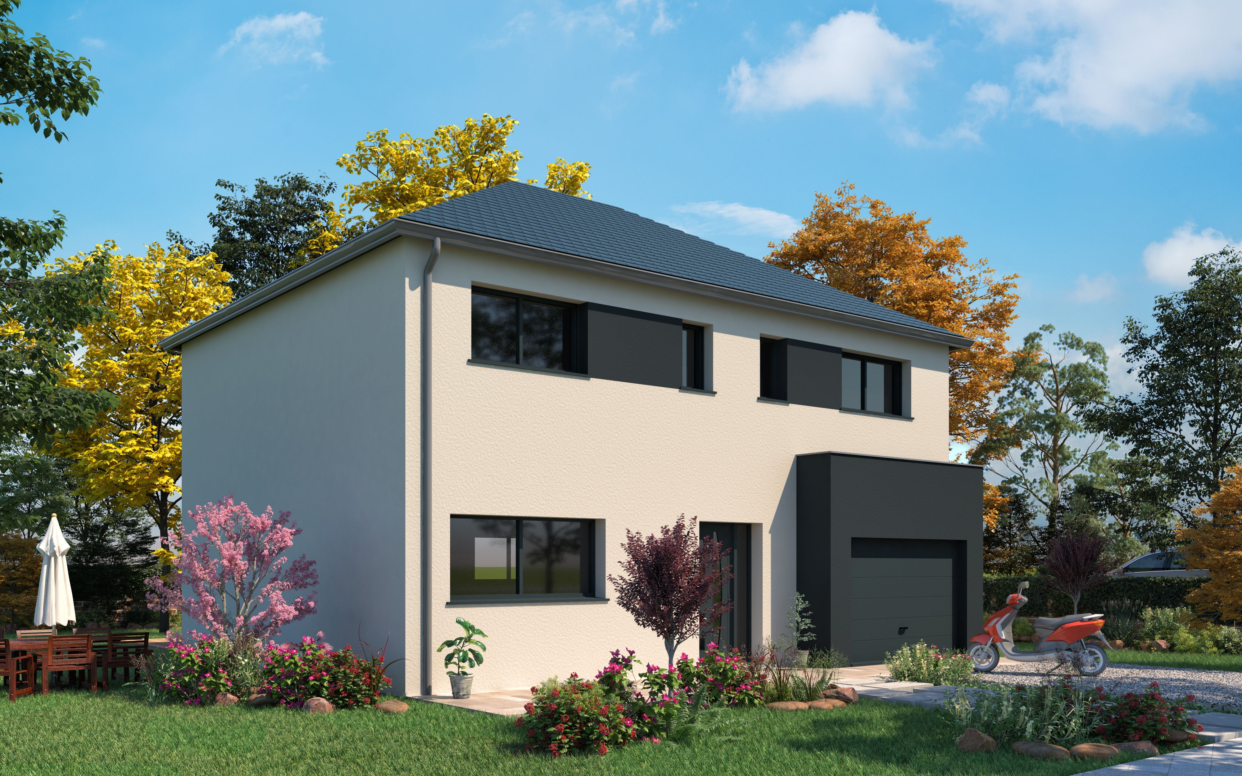 Maison Clé En Main Calvados maison + terrain 2816802 tourville-la-rivière (76410