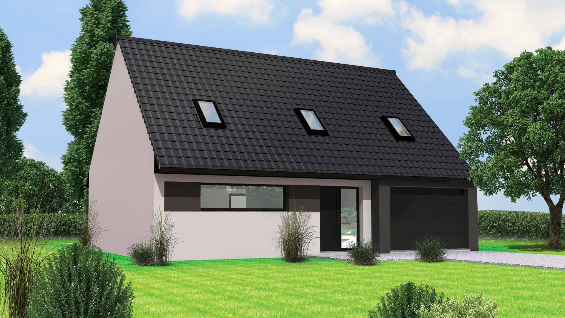 Terrain et maison à construire Chemy 118m²
