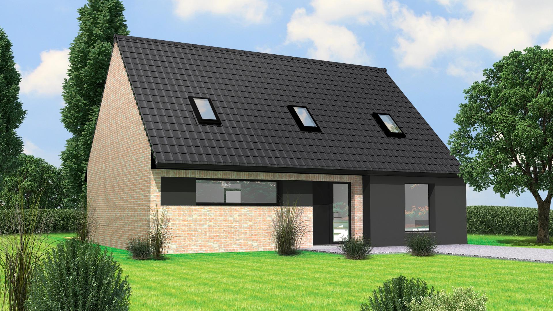 Terrain et maison à construire Warlaing 138m²