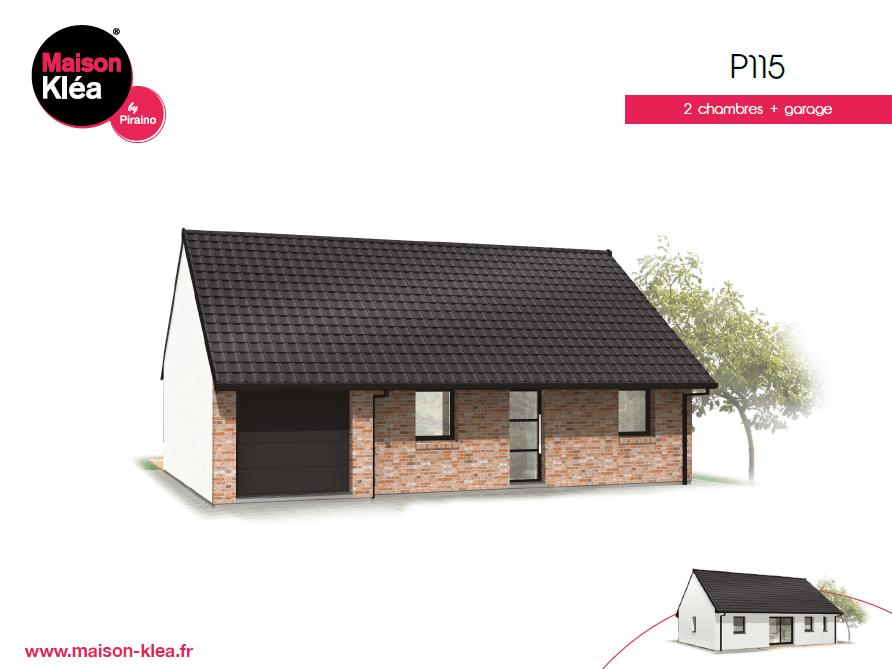 Terrain et maison à construire Lederzeele 75m²