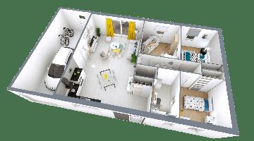 MAISON VIVALIA REALIA 3 CHAMBRES AVEC GARAGE XL PLAN