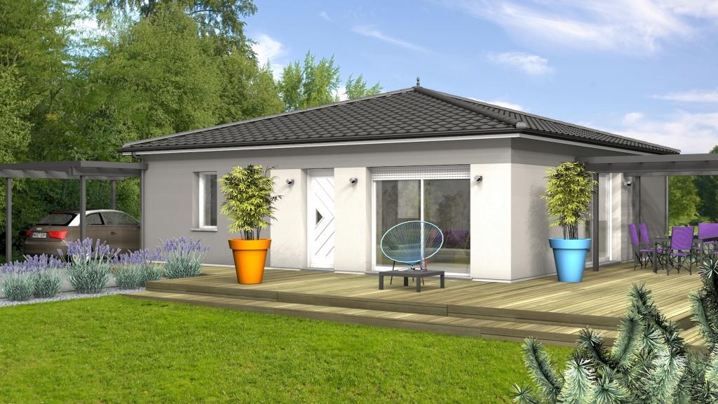 Maison à construire à Razac-sur-l'Isle(24430)  sur un terrain de 1500m²