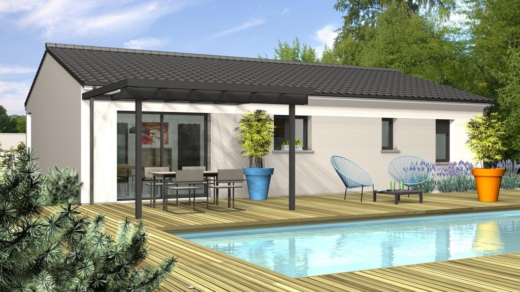 Maison à construire à Prigonrieux(24130)  sur un terrain de 2000m²