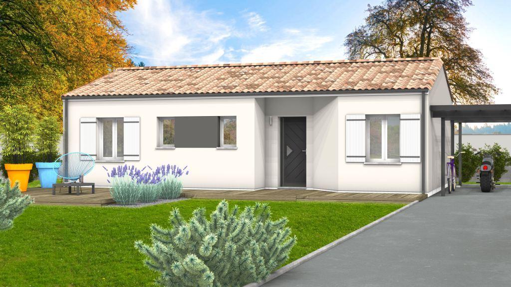 Maison à construire à Saint-Pierre-de-Chignac(24330)  sur un terrain de 609m²