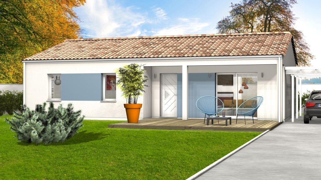 Maison à construire à Montignac(24290)  sur un terrain de 1100m²