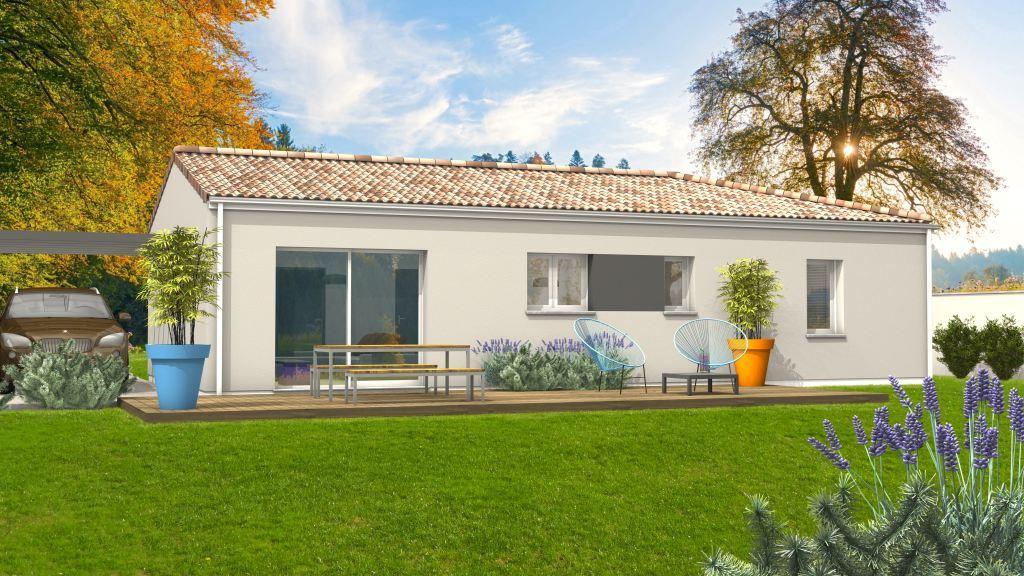 Maison à construire à Borrèze(24590)  sur un terrain de 1200m²