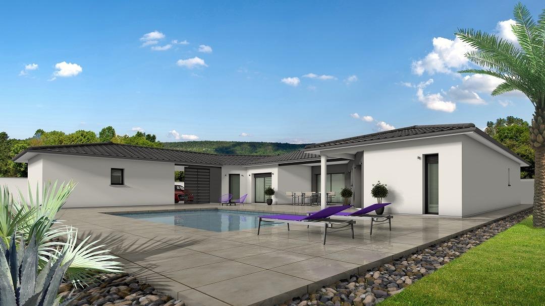 Maison à construire à Gardonne(24680)  sur un terrain de 2427m²