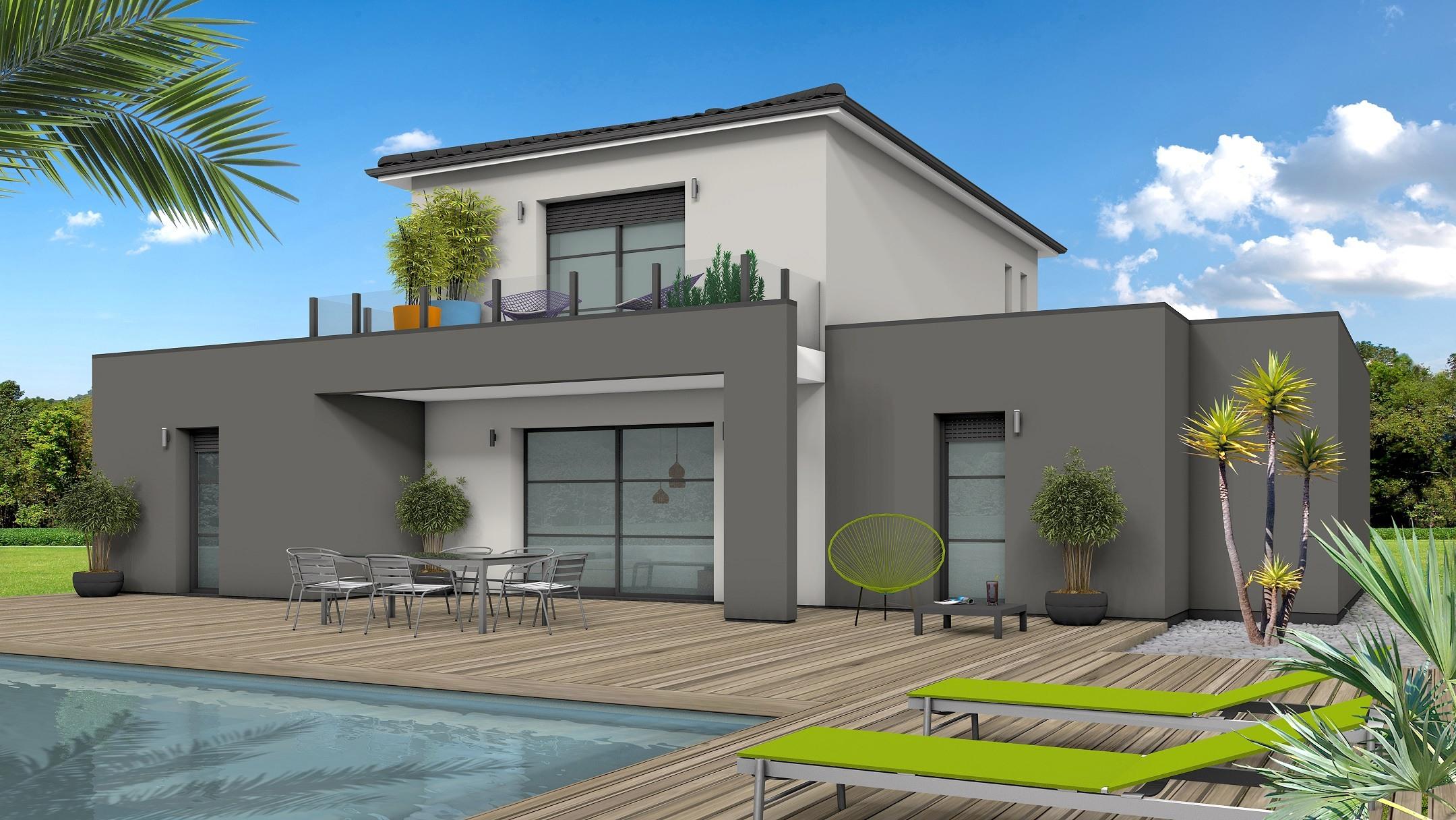 Maison à construire à Cours-de-Pile(24520)  sur un terrain de 3100m²