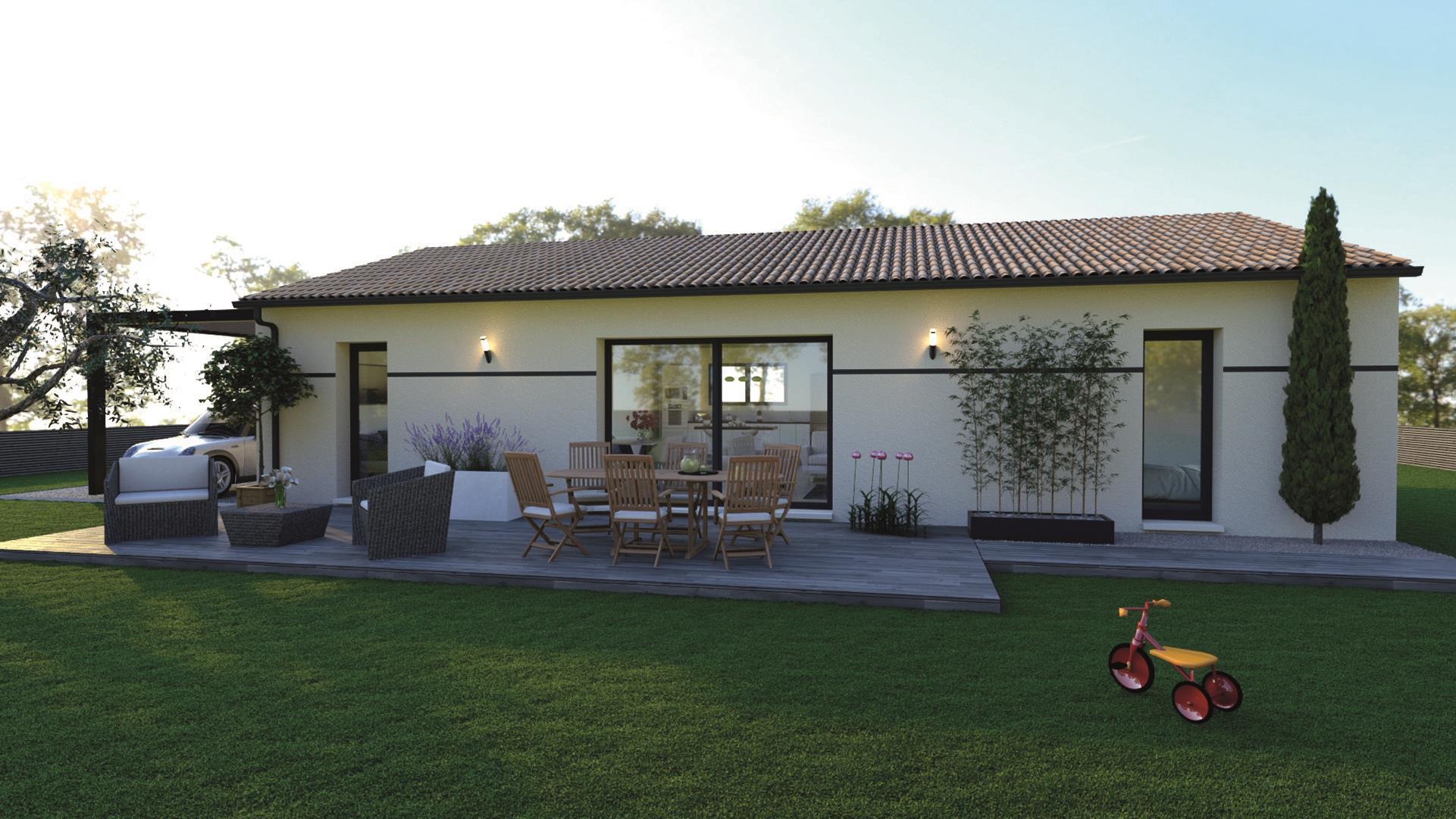 Maison et terrain constructible à Pouzac
