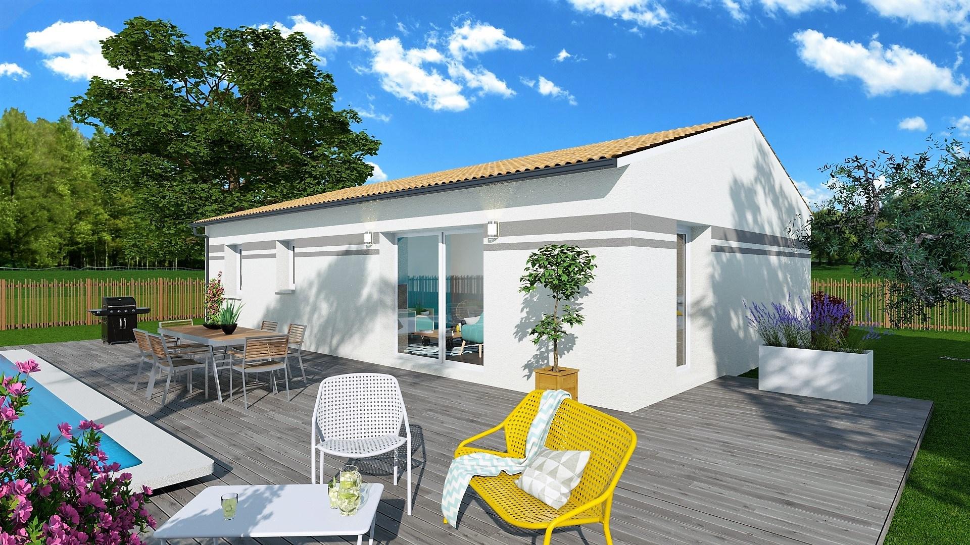 Maison et terrain constructible à Montaut