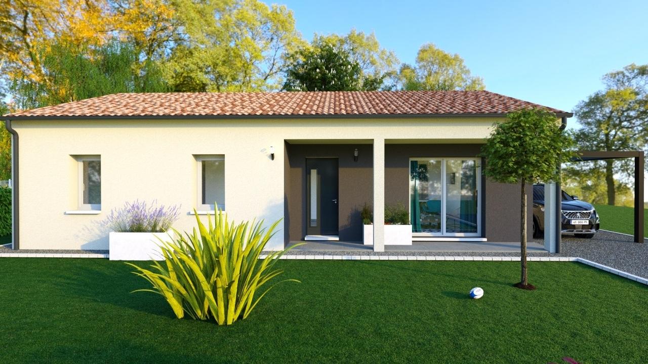 Maison à construire à Saint-Maurice-les-Brousses(87800)  sur un terrain de 1200m²