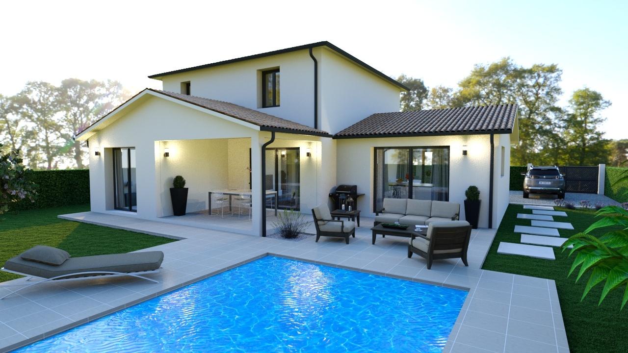 Maison à construire à Le Bugue(24260)  sur un terrain de 1095m²