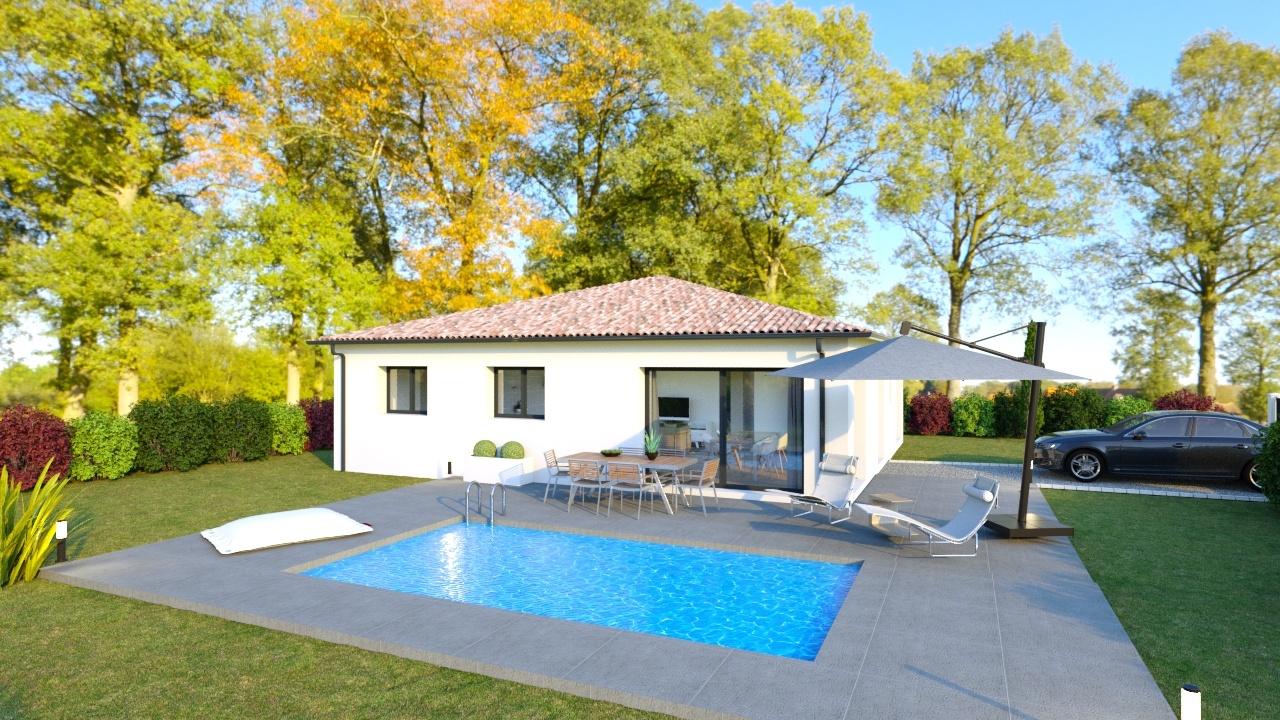 Maison à construire à Rochechouart(87600)  sur un terrain de 5400m²