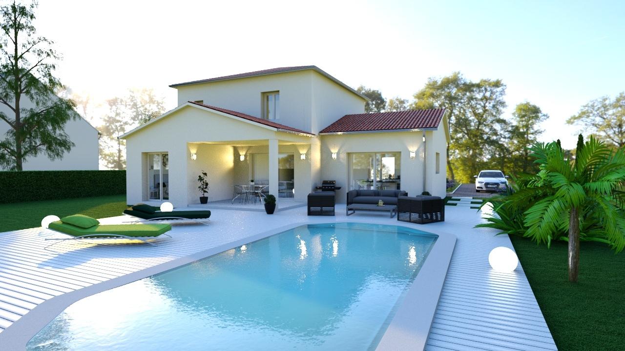 Maison à construire à Saint-Cyprien(24220)  sur un terrain de 4950m²