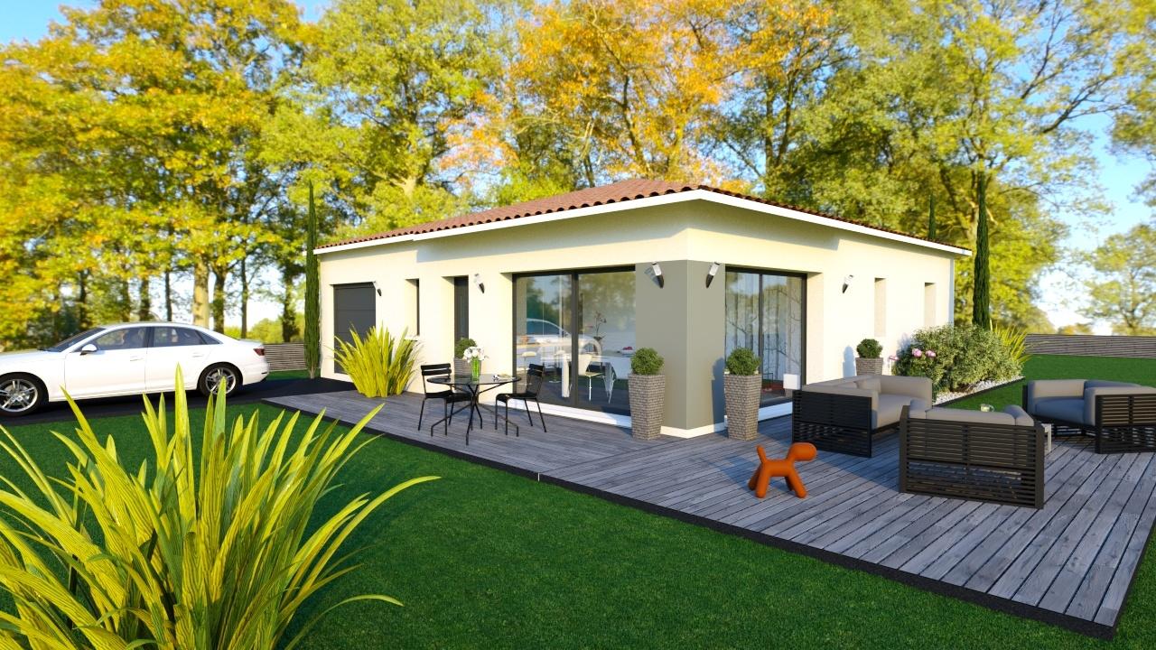 Maison et terrain constructible à Artigues-près-Bordeaux