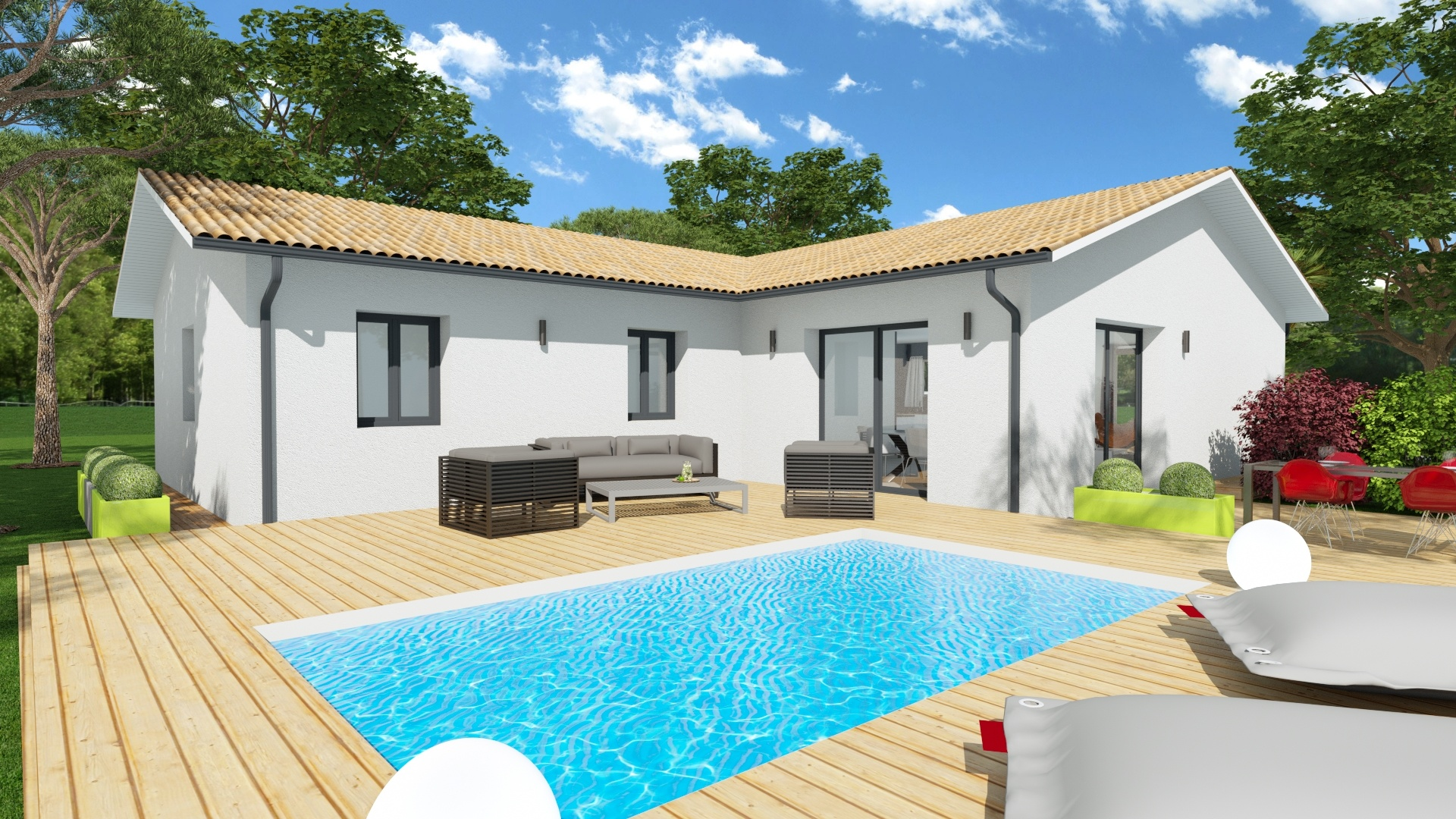 Maison et terrain constructible à Lugos
