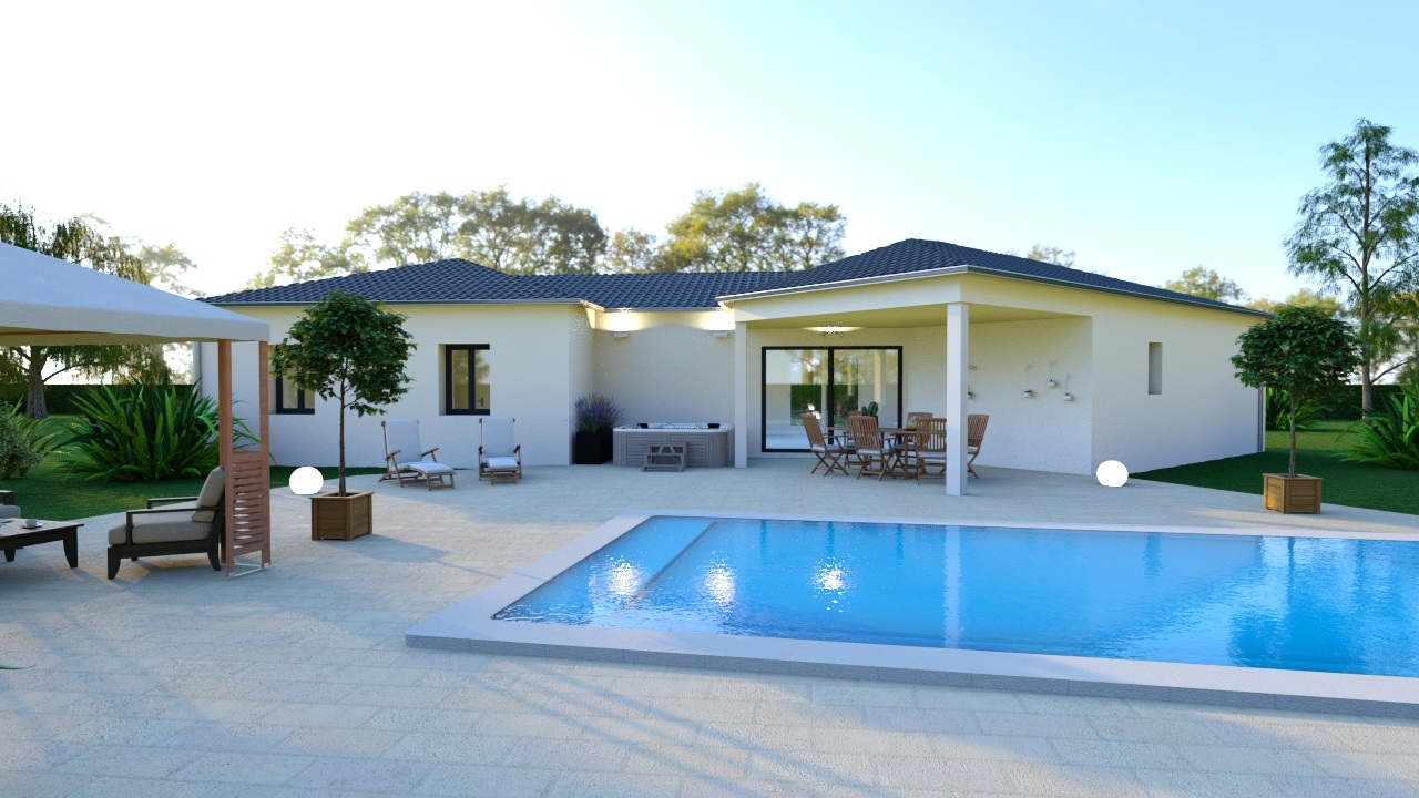 Maison à construire à Royères(87400)  sur un terrain de 1700m²