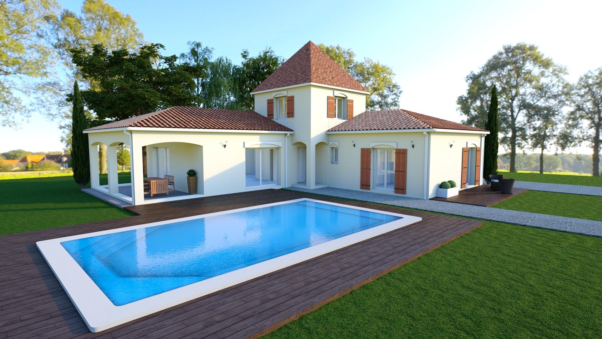 Maison à construire à Le Bugue(24260)  sur un terrain de 2190m²