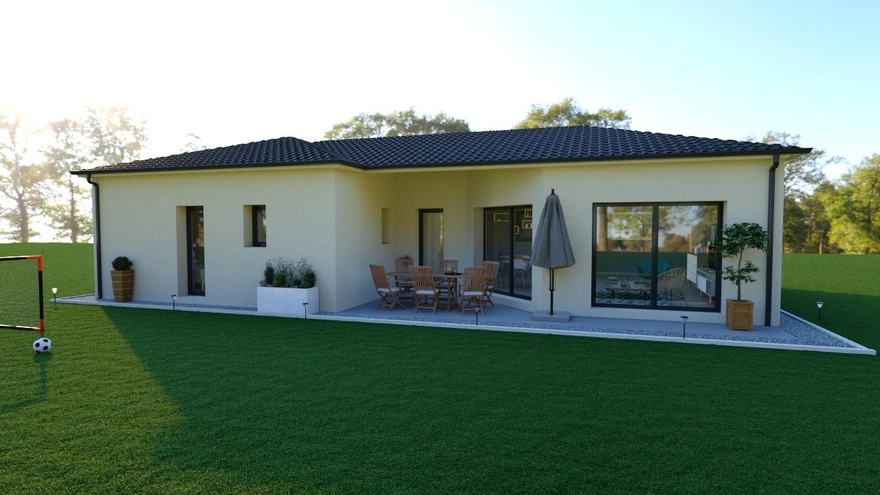 Maison à construire à Champcevinel(24750)  sur un terrain de 1500m²