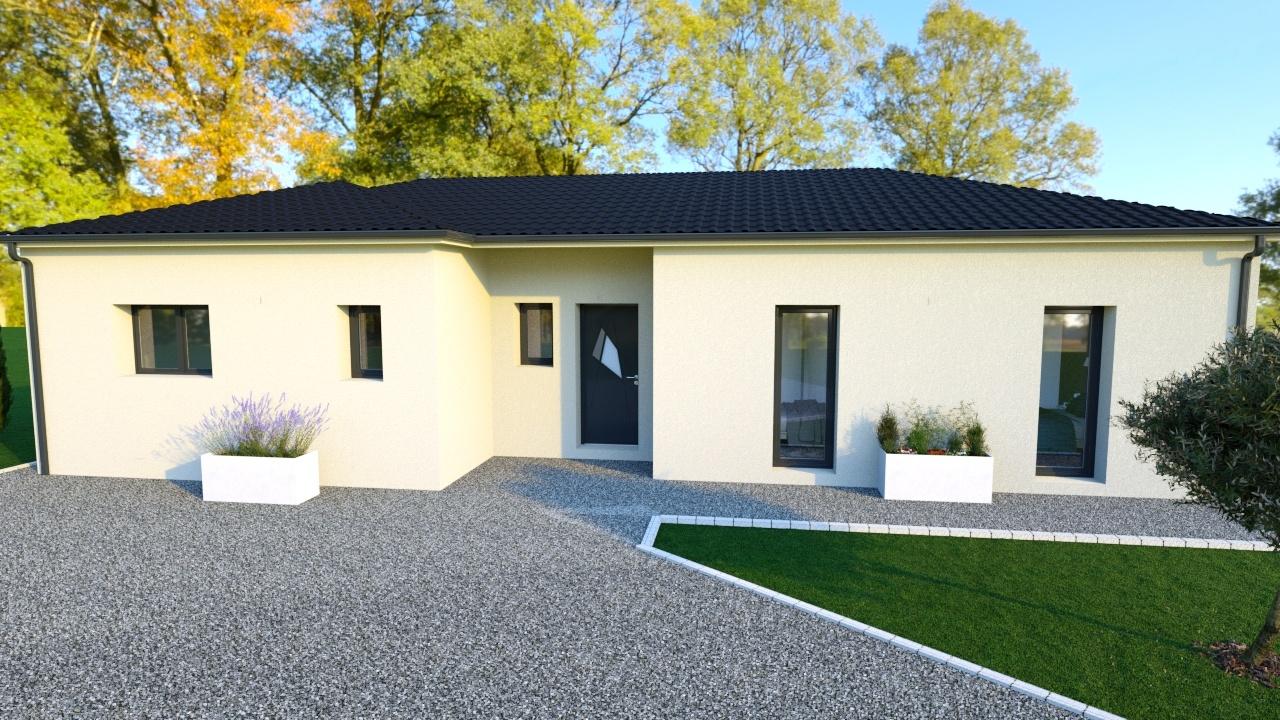 Maison à construire à Borrèze(24590)  sur un terrain de 1194m²