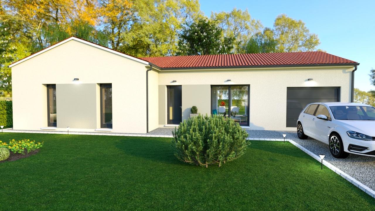 Maison à construire à Châlus(87230)  sur un terrain de 2000m²