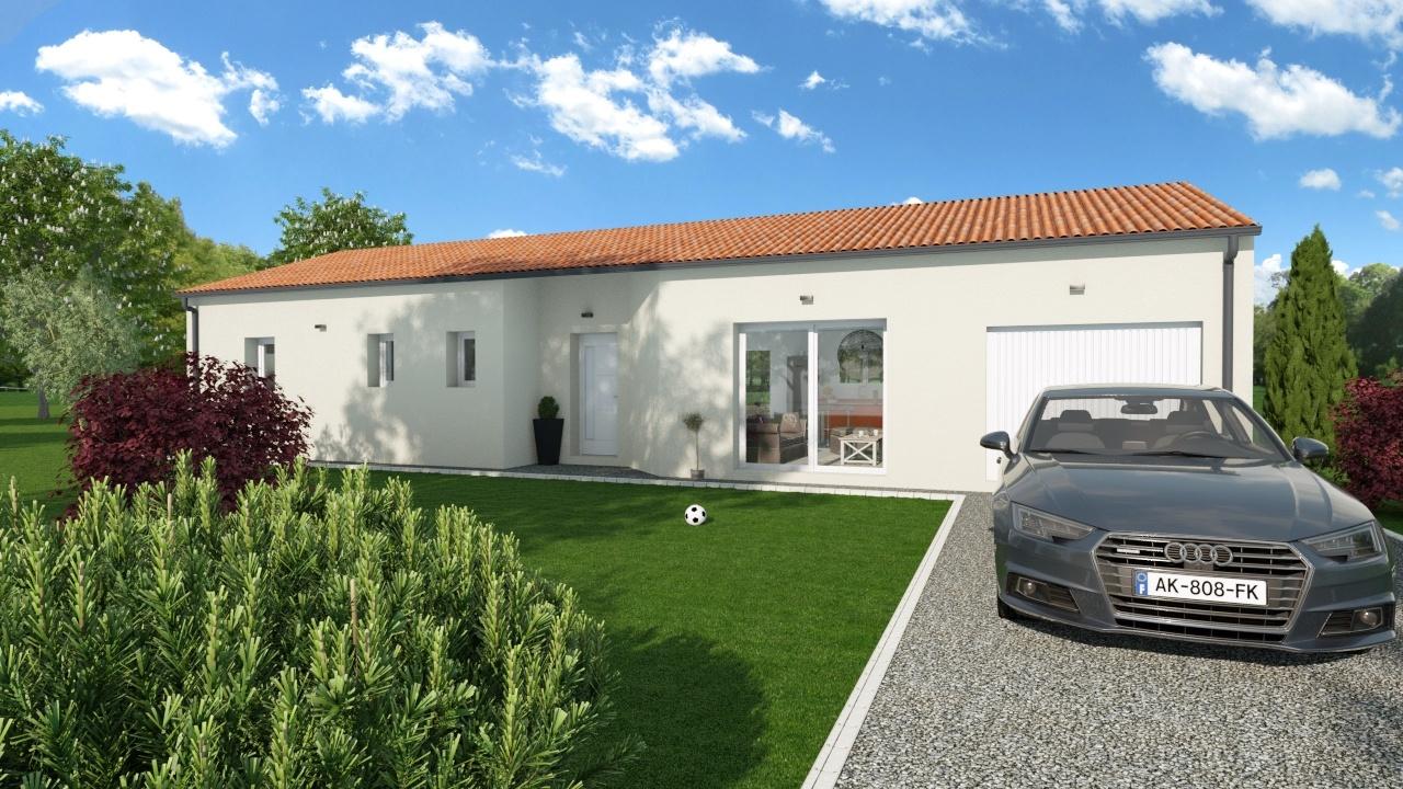 Maison à construire à Cussac(87150)  sur un terrain de 818m²