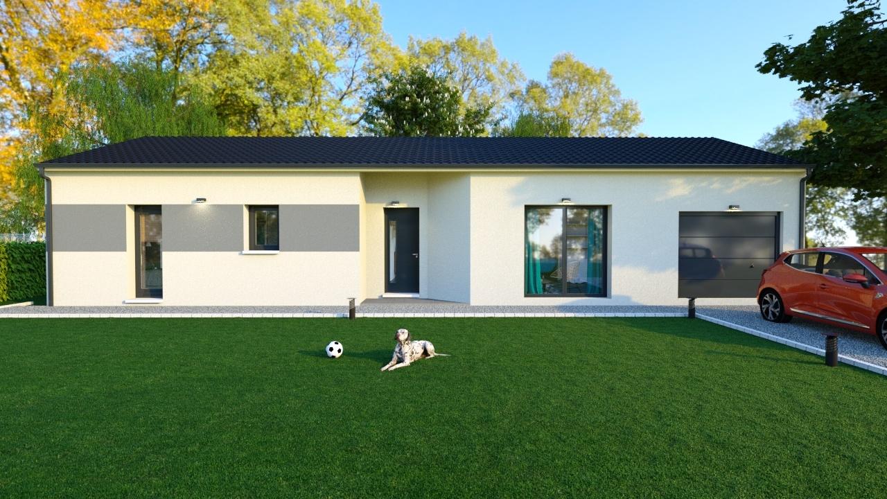 Maison à construire à Jourgnac(87800)  sur un terrain de 1200m²