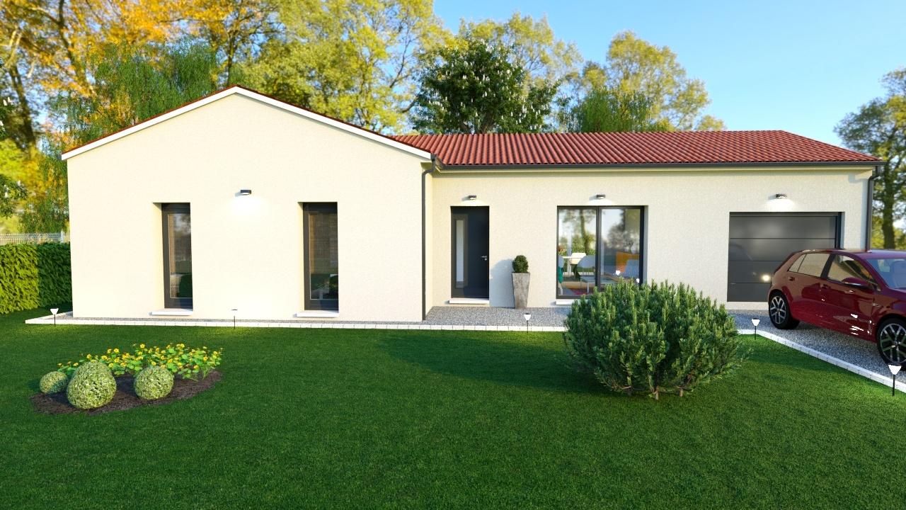 Maison à construire à Oradour-sur-Vayres(87150)  sur un terrain de 948m²