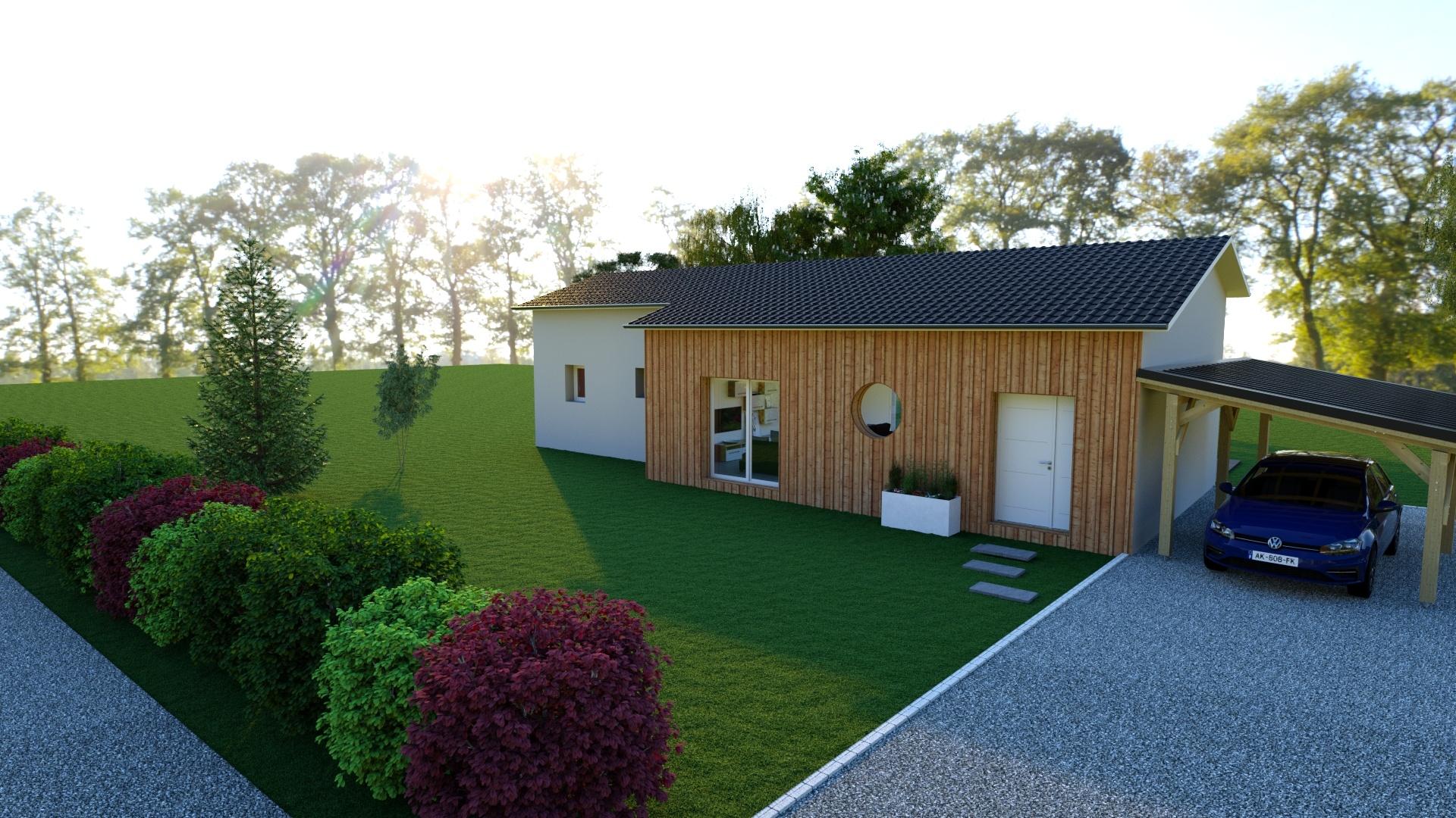 Maison à construire à Saint-Jean-Ligoure(87260)  sur un terrain de 700m²