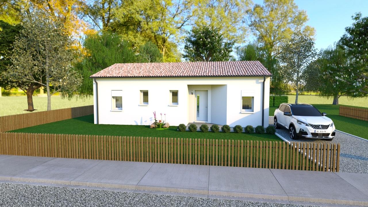 Maison à construire à Annesse-et-Beaulieu(24430)  sur un terrain de 1000m²
