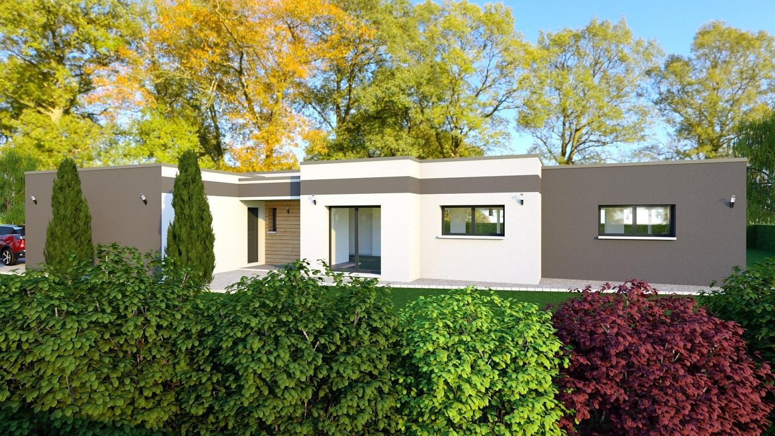 Maison à construire à Saint-Gence(87510)  sur un terrain de 1800m²