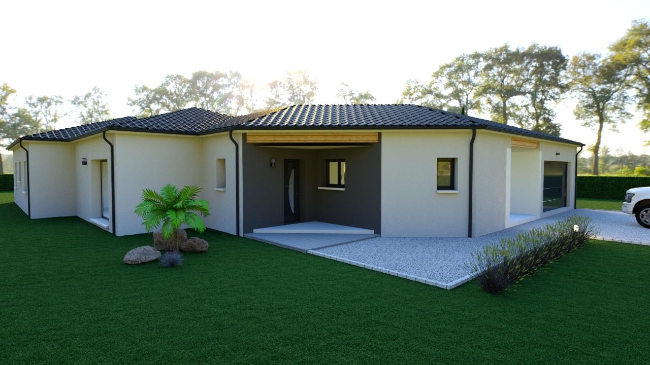 Maison à construire à Champcevinel(24750)  sur un terrain de 1503m²