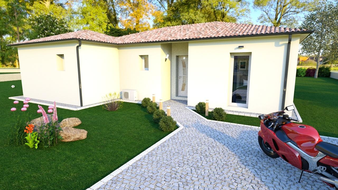 Maison à construire à Saint-Léonard-de-Noblat(87400)  sur un terrain de 2500m²