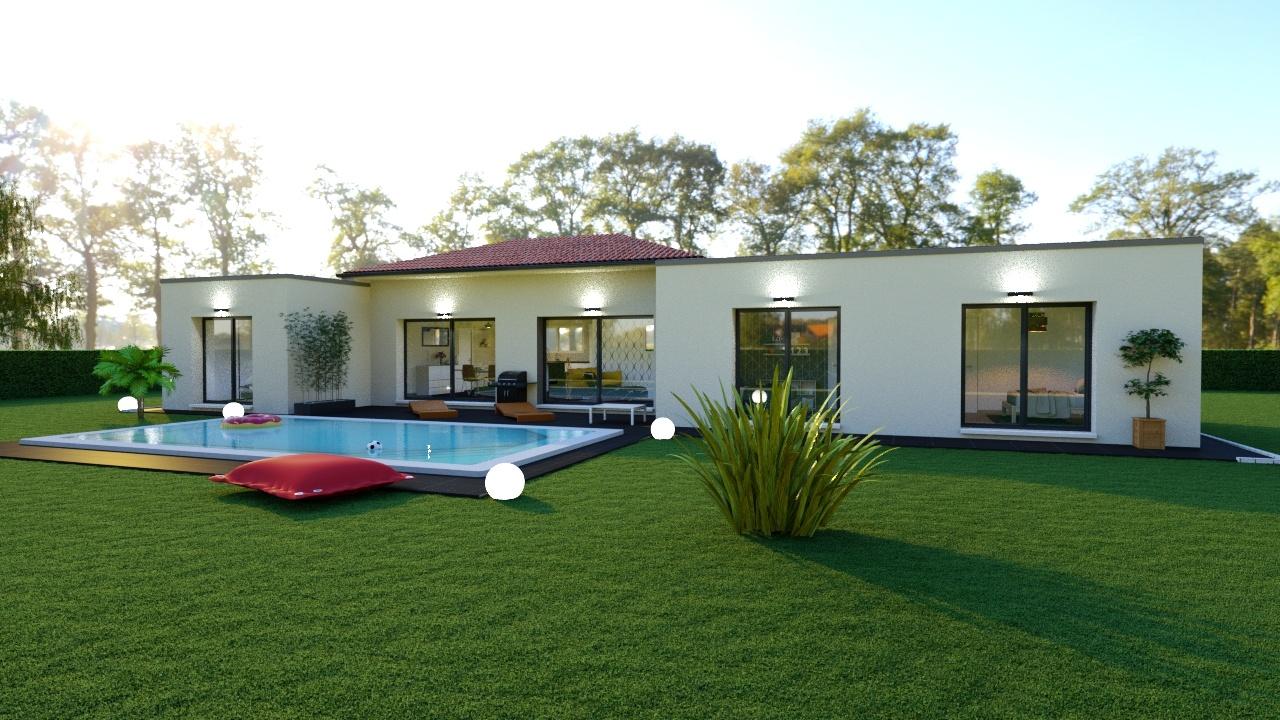Maison à construire à Veyrac(87520)  sur un terrain de 4500m²