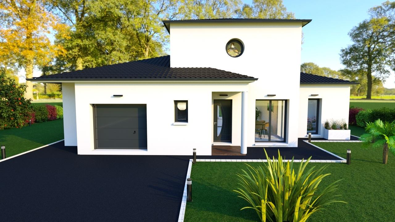 Maison à construire à Saint-Léon-sur-l'Isle(24110)  sur un terrain de 4450m²