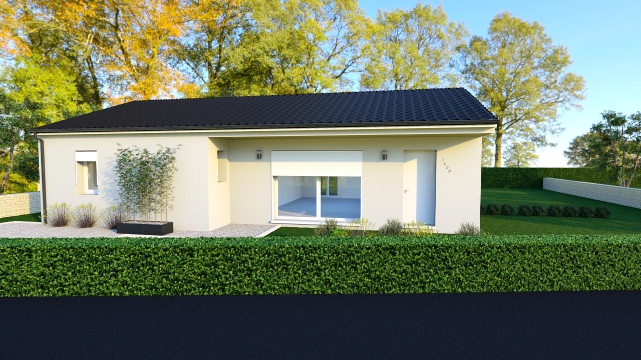 Maison à construire à Périgueux(24000)  sur un terrain de 553m²