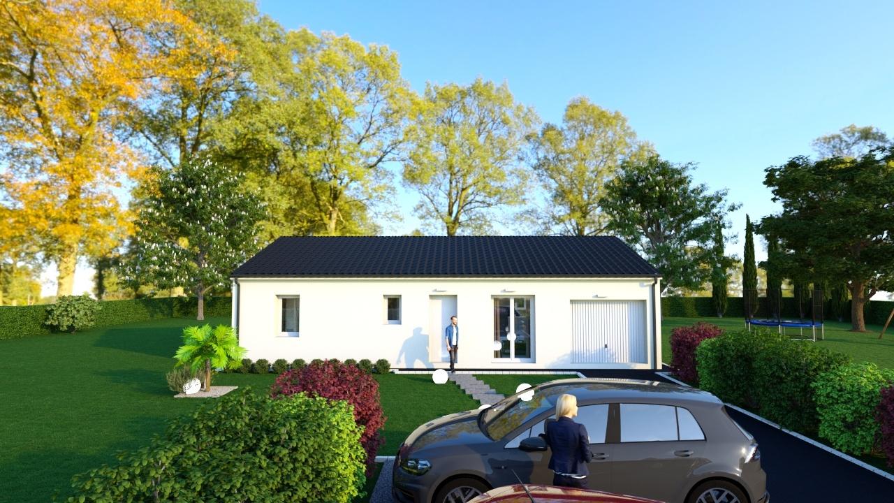 Maison à construire à Saint-Léon-sur-l'Isle(24110)  sur un terrain de 2225m²