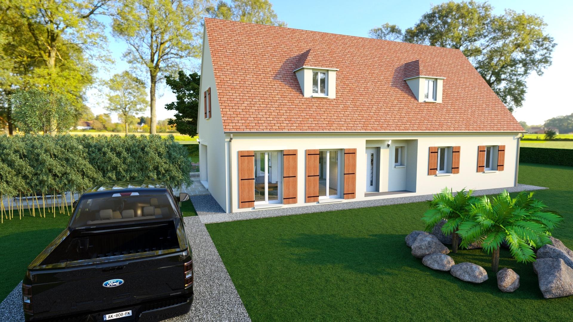 Maison à construire à Groléjac(24250)  sur un terrain de 1932m²