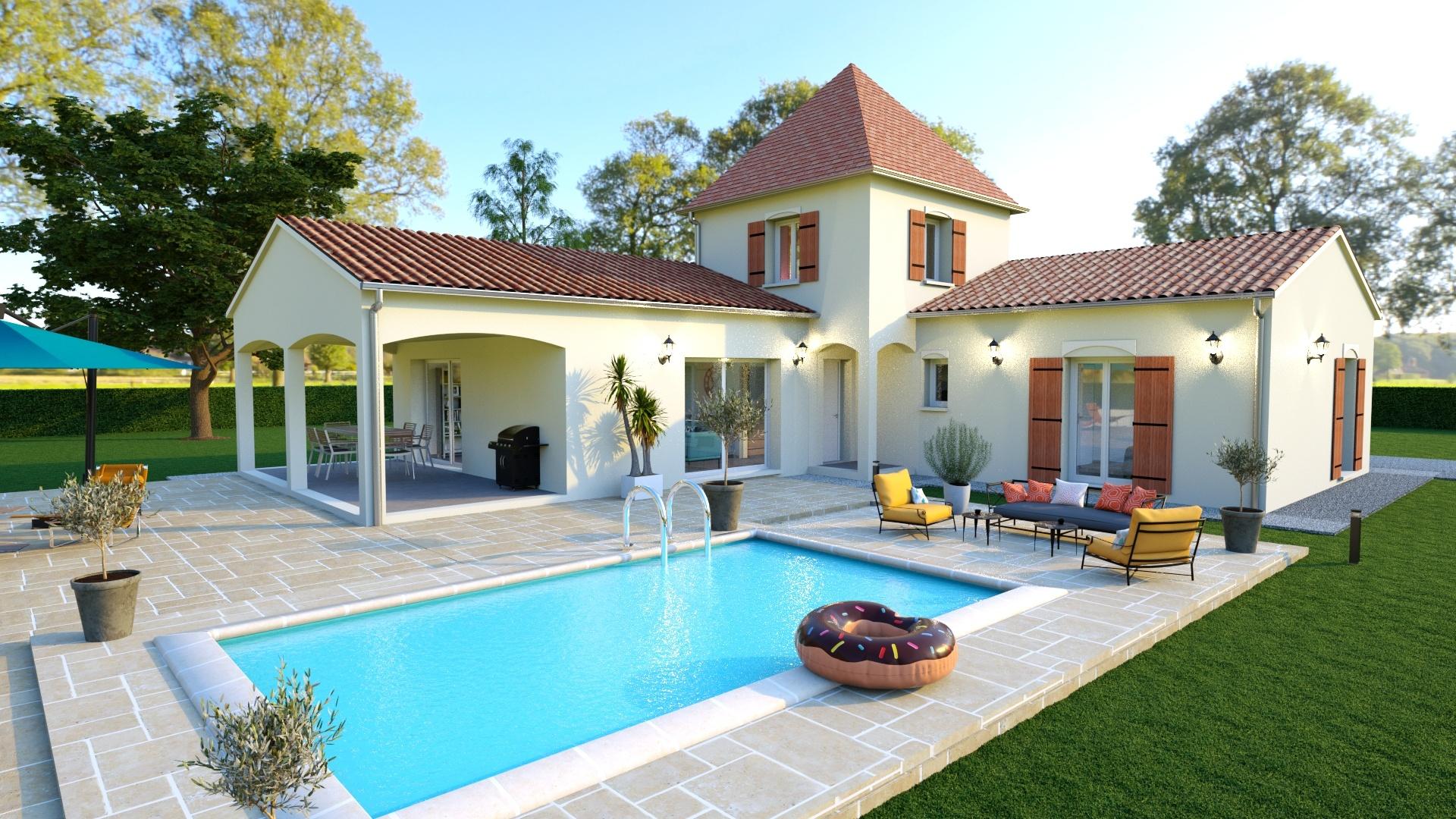 Maison à construire à Saint-Germain-du-Salembre(24190)  sur un terrain de 2858m²