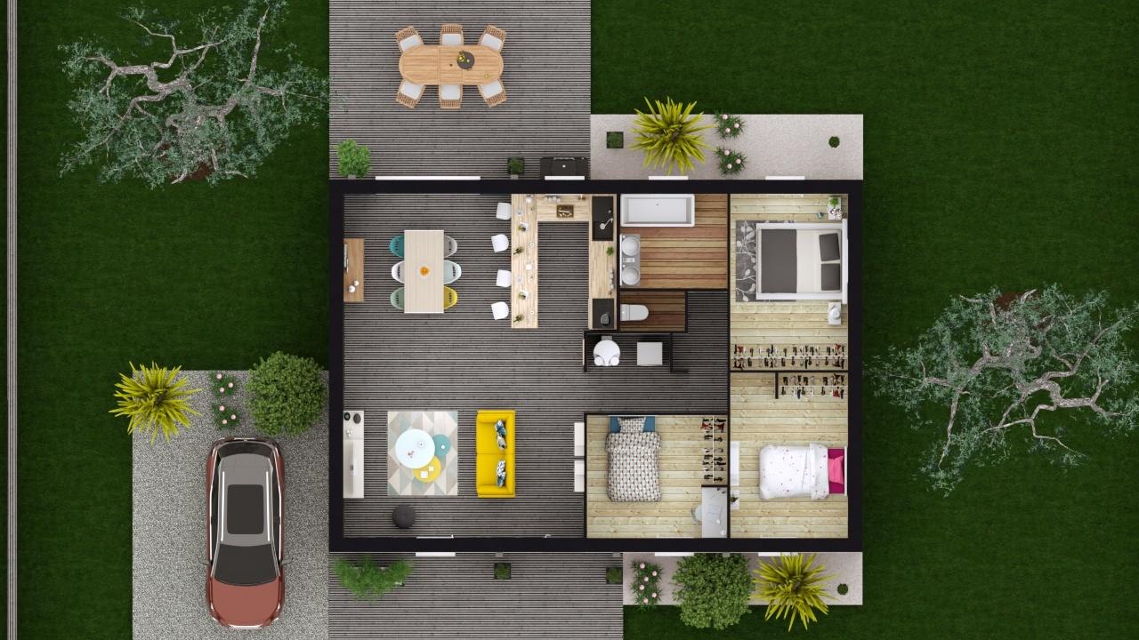 Maison et terrain constructible à Léognan