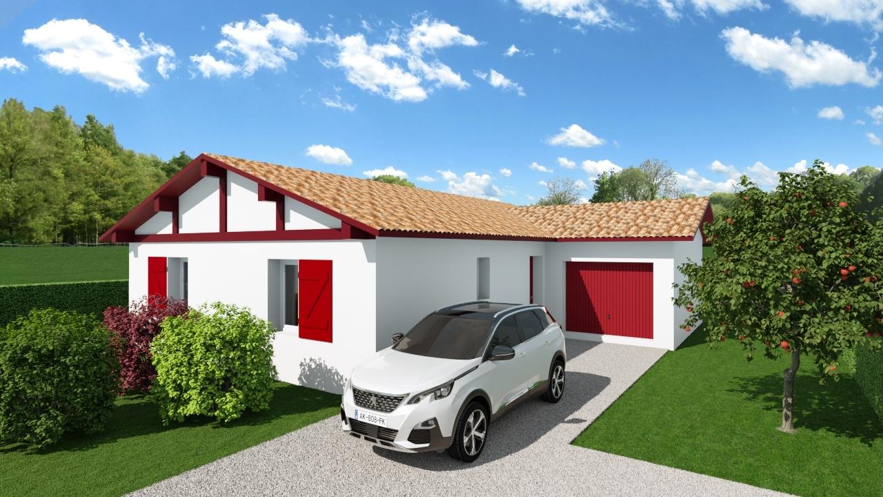 Maison et terrain constructible à Cauneille