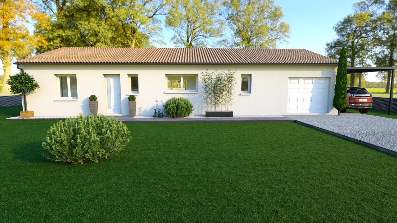 Maison et terrain constructible à Ginestet